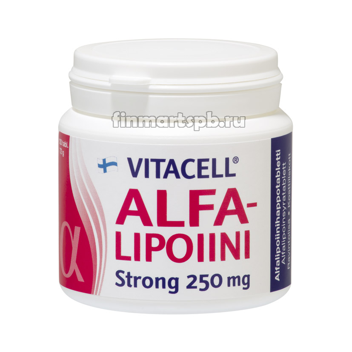 Альфа-липоевая кислота Vitacell Alpha-Lipoiini Strong -120 шт.