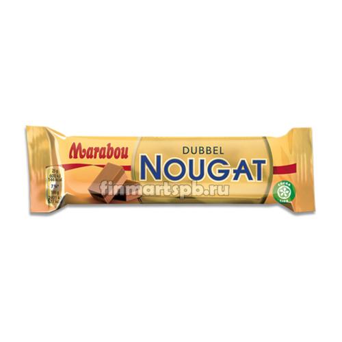 Батончик с нугой Marabou Dubbel Nougat - 43 гр.
