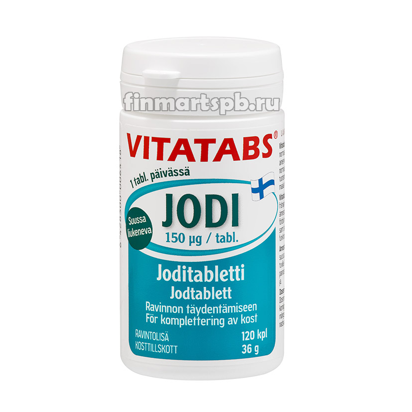 Витамины Vitatabs Jodi (йод в таблетках) - 120 таб.