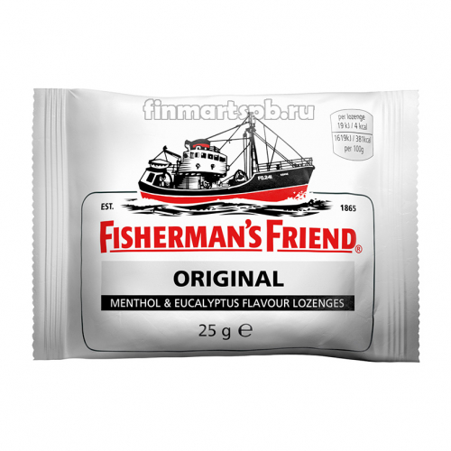 Ментоловые конфеты Fisherman`s Friend Original (ментол и эвкалипт)