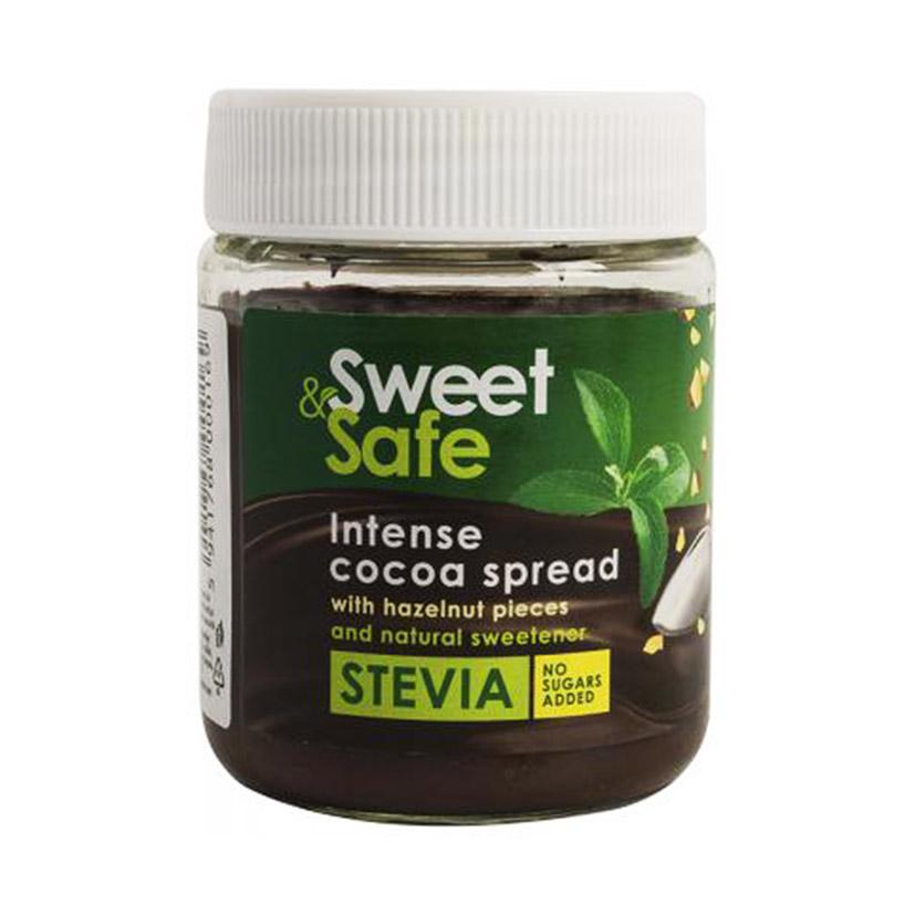 Паста орех-какао Sweet&safe Stevia (без сахара) - 220 гр.