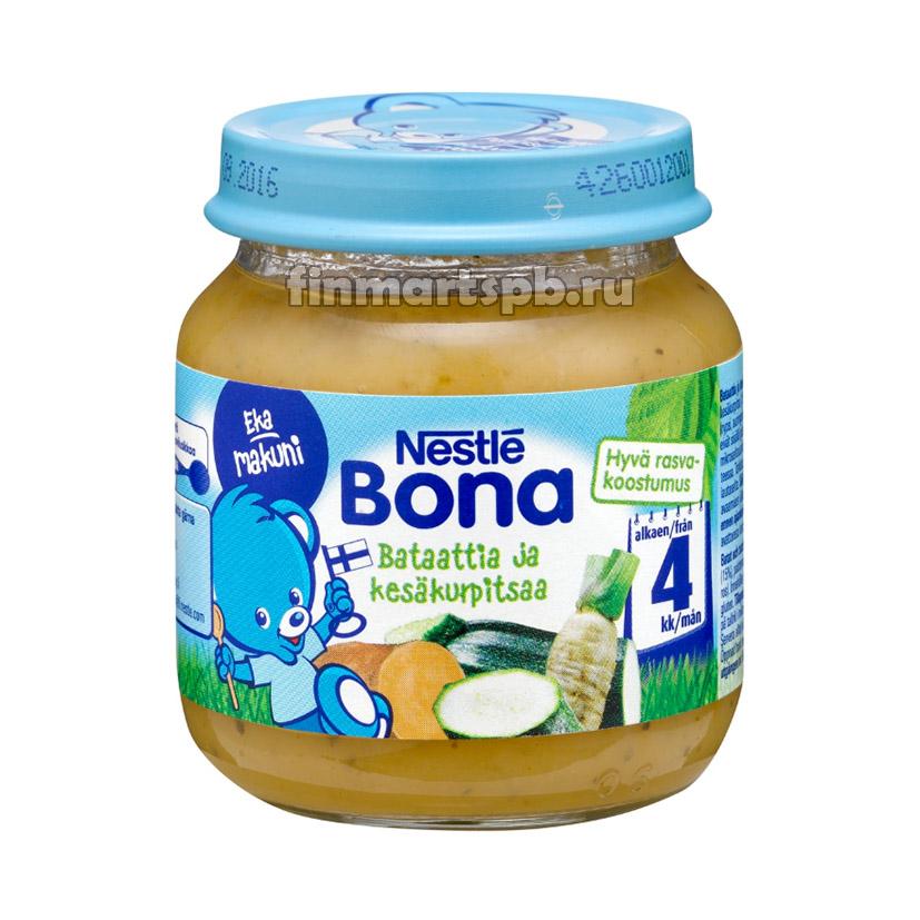 Nestle Bona Bataattia ja kesäkurpitsaa (картофель цуккини) - 125 гр.