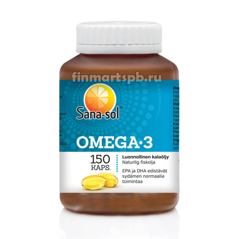 Рыбий жир Sana sol Omega 3 (Сана сол Омега 3)