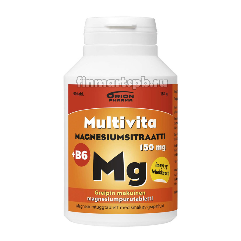 Multivita magnesiumstraatti +B6 - 90 таб.