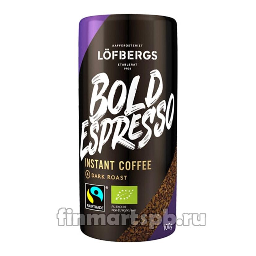 Растворимый кофе Lofbergs Bold Espresso 100 гр.