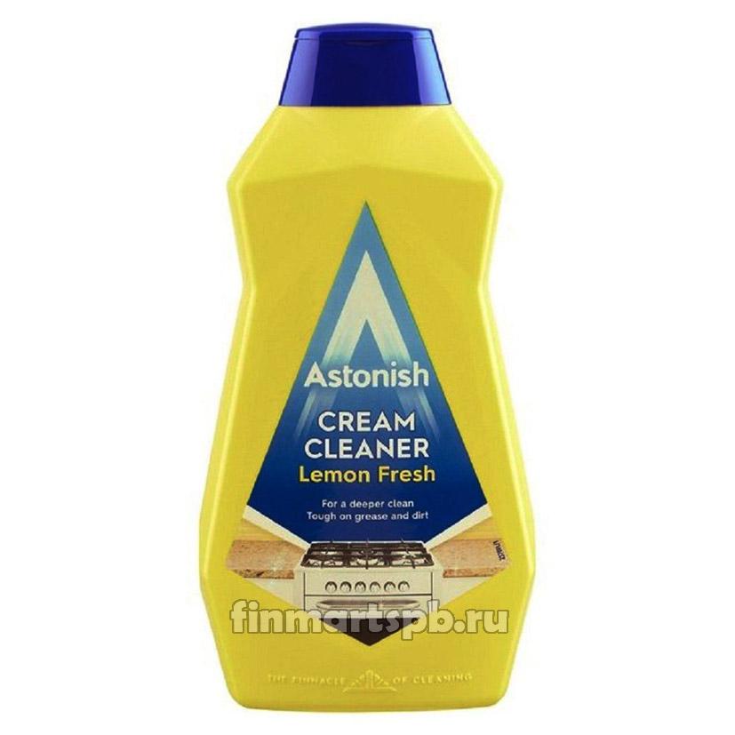 Чистящий крем для плит Astonish Cream Cleaner lemon fresh 500 мл.