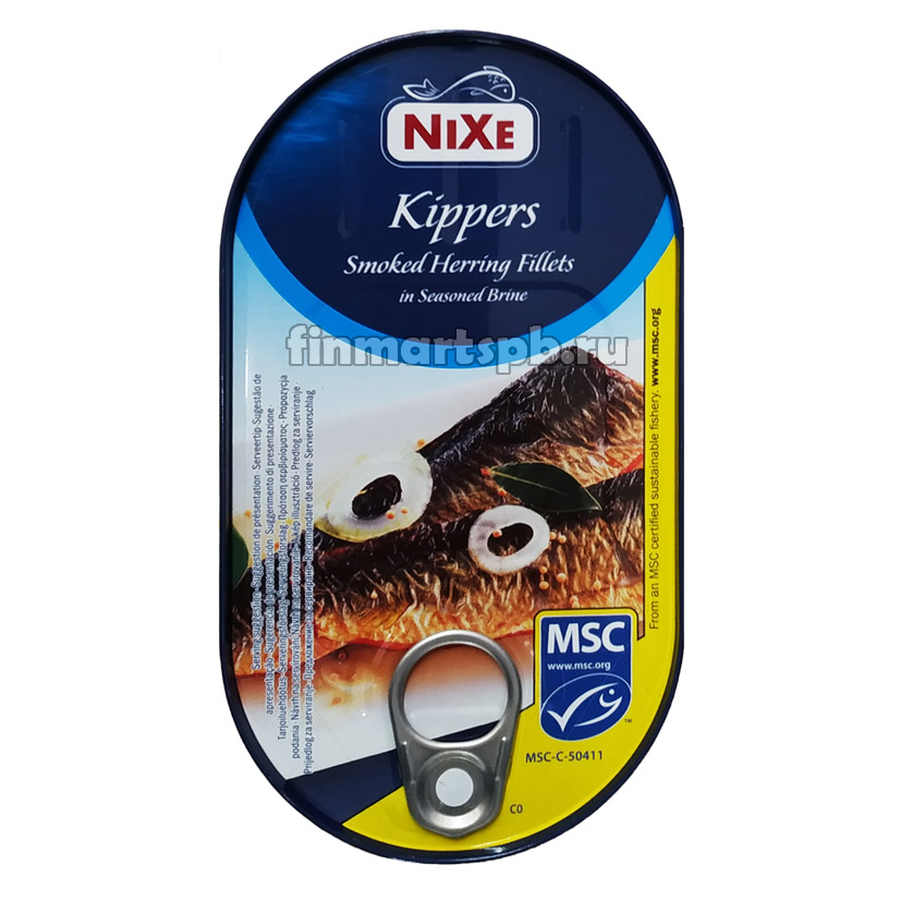 Копчёное филе сельди в рассоле Nixe kippers smoked herring fillets - 190 гр.