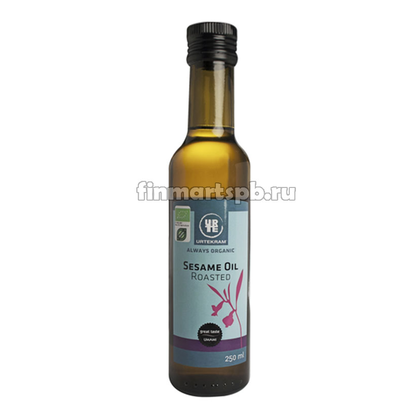 Жаренное кунжутное масло Urtekram sesame oil roasted