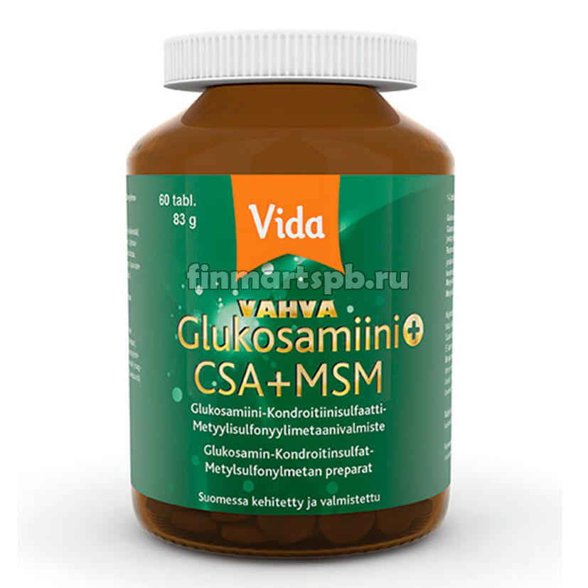 Витамины для суставов Vida vahva glukosamiini+csa+msm
