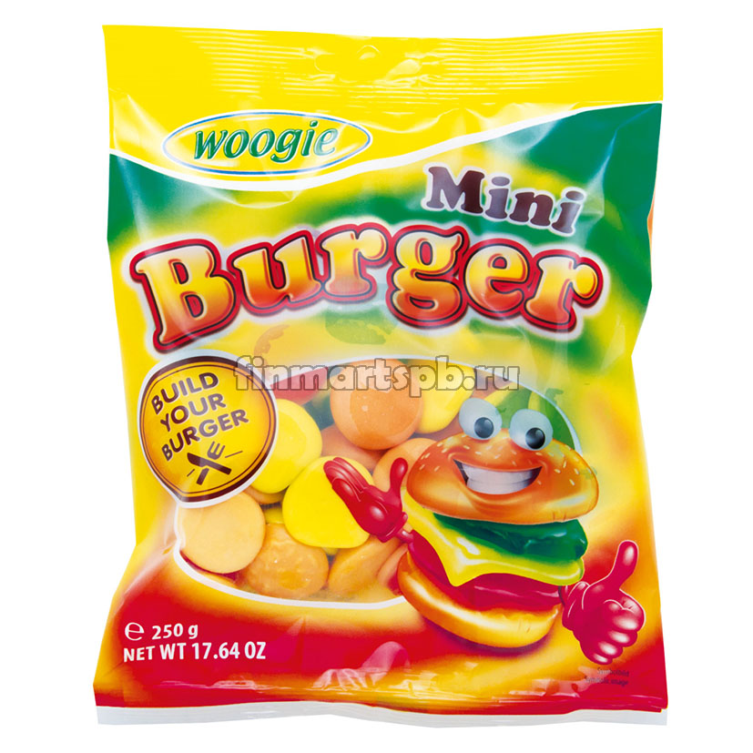 Жевательные конфеты Woogie Mini Burger, 250 гр.