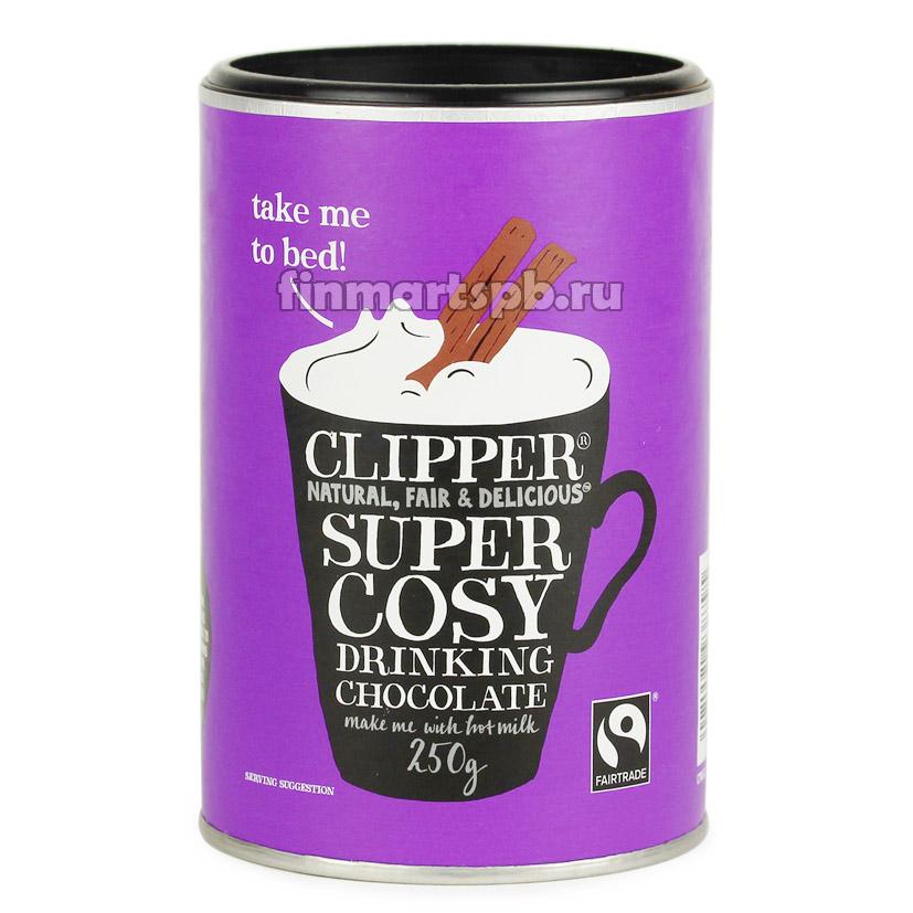 Горячий шоколад Clipper Super Cosy drinking chocolate, 250 гр.