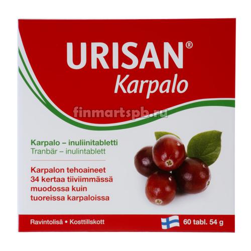 Витамины для женщин Urisan karpalo (клюква и инулин ), 60 таб.