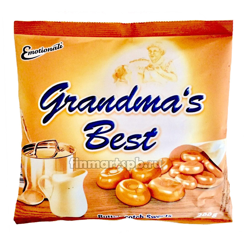 Сливочные карамельки Emotionali Grandma's Best Butterscotch Sweet, 200г.