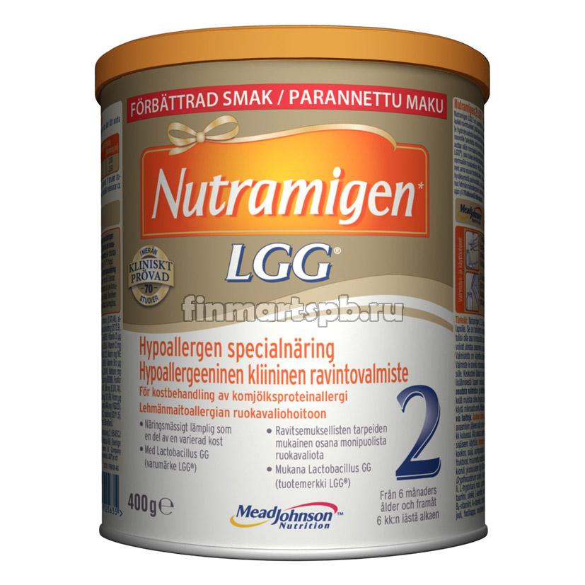 Гипоаллергенная смесь Nutramigen LGG 2 (Нутрамиген 2) - 400 гр.