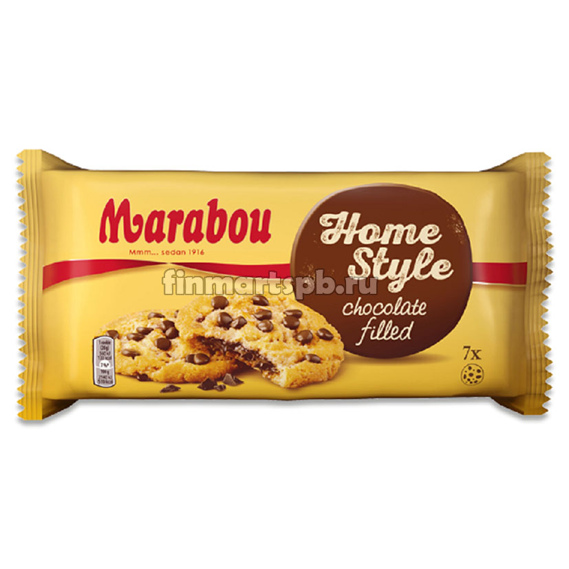 еченье Marabou Home Style chocolate filled, 182 гр.