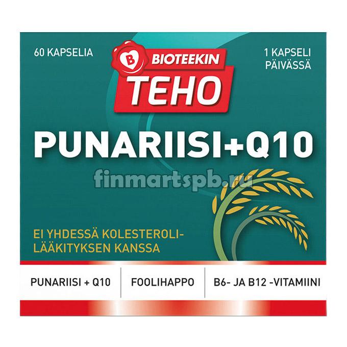 Витамины B12,B6,Q10 с красным рисом Bioteekin Punariisi+Q10