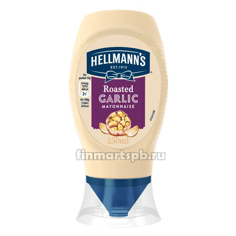 Майонез с чесноком Hellmann`s Roasted Garlic mayonnaise
