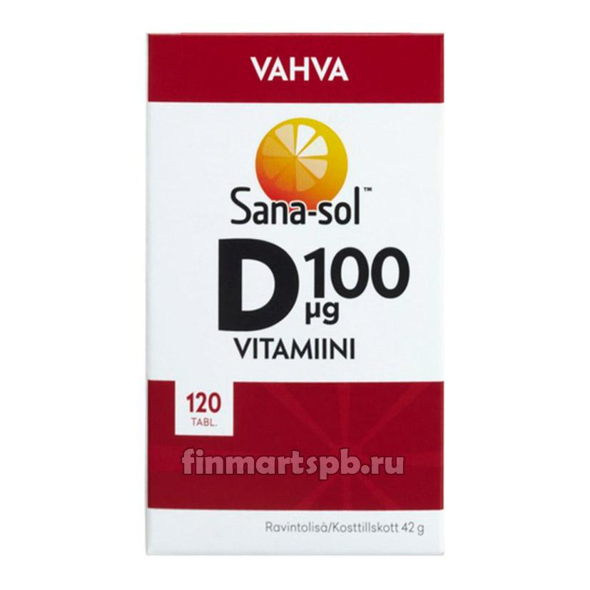Sana-sol Vahva Vitamiini D (Сана-сол Витамин Д, без вкуса) 100 mkg