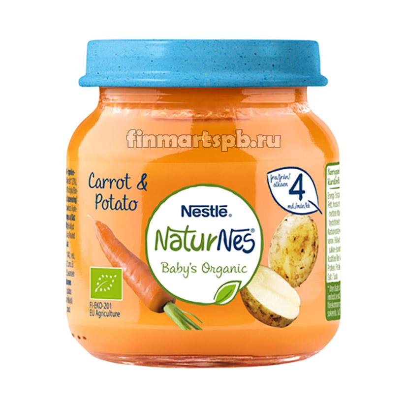 Готовое пюре Nestle NaturNes Carrot&Potate (морковь, картофель), 125 гр.