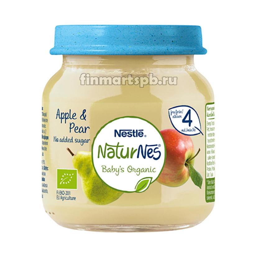 Фруктовое пюре Nestle NaturNes Apple&Pear (яблоко, груша)