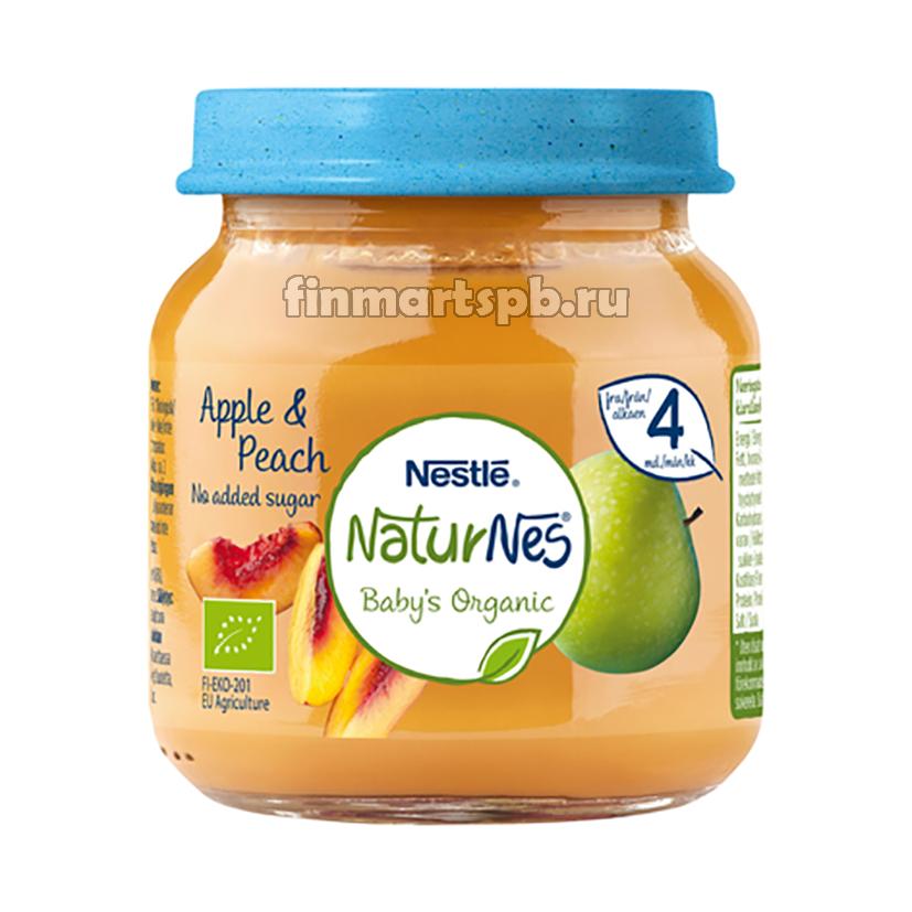 Фруктовое пюре Nestle NaturNes Apple&Peach (яблоко, персик)