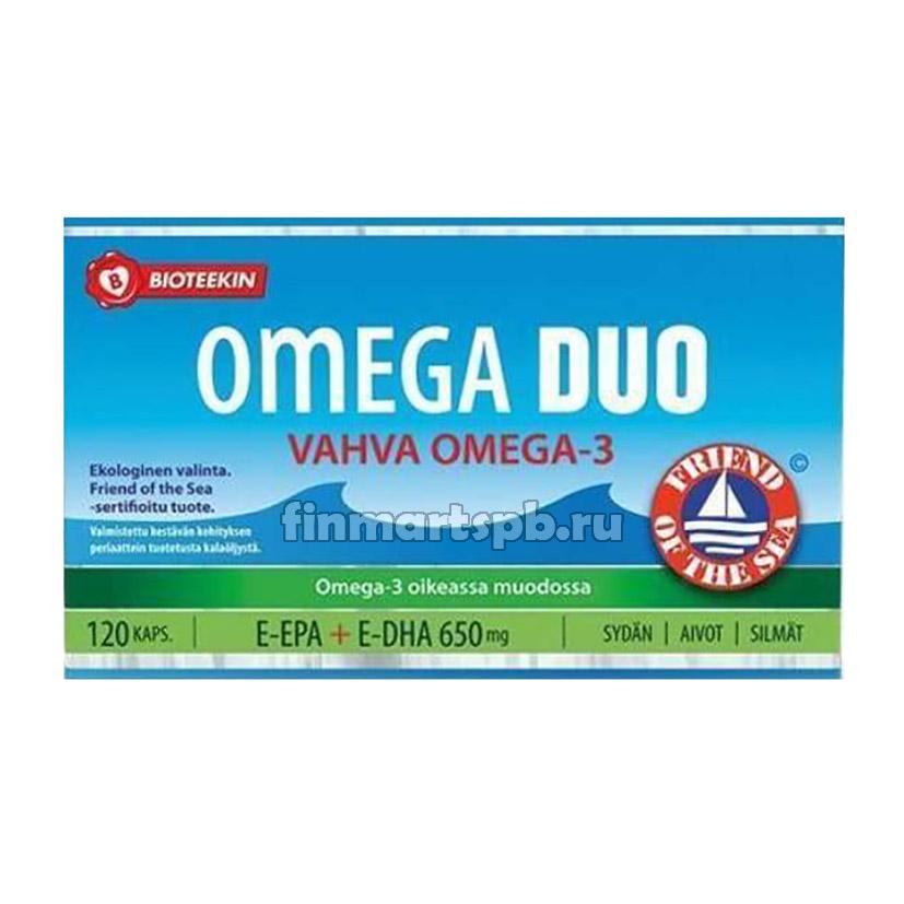Витамины омега Bioteekin Omega Duo vahva omega 3