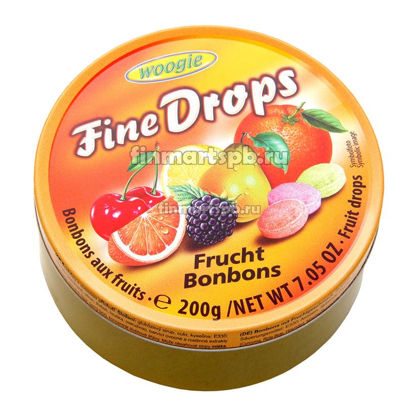 Леденцы Woogie Fine Drops (фруктовое ассорти)
