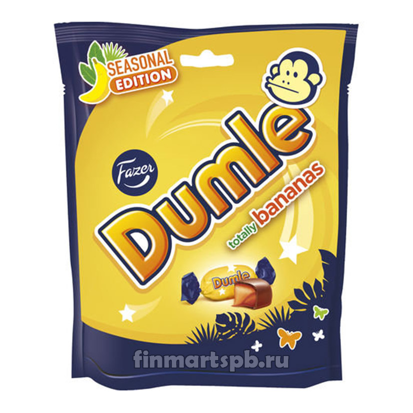 Конфеты Fazer Dumle totally bananas (Фазер Думле банан)
