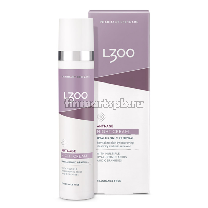 Гиалуроновый антивозрастной крем для лица L300 Anti-age Night cream, 50 мл