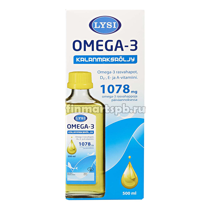 Рыбий жир Lysi Omega 3 1078mg