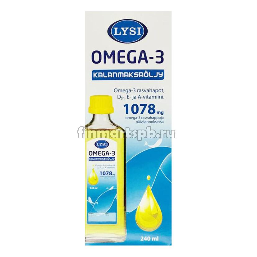 Рыбий жир Lysi Omega 3 1078mg (Омега 3)