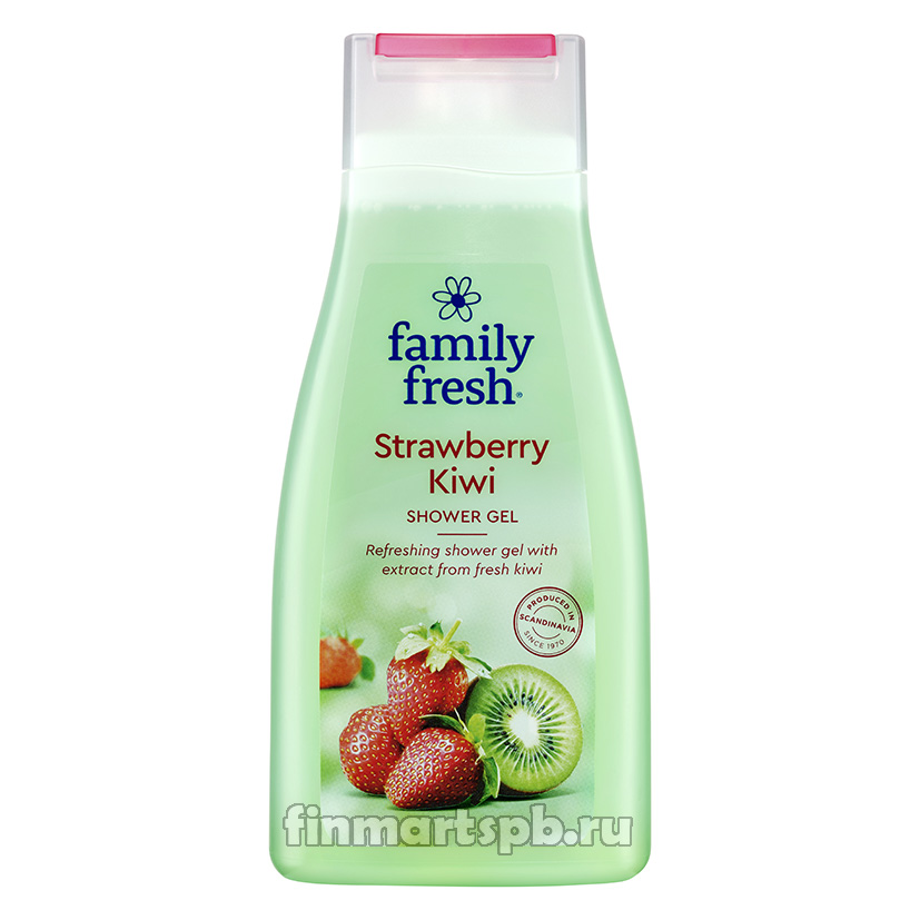 Гель для душа Family Fresh Strawberry kiwi.