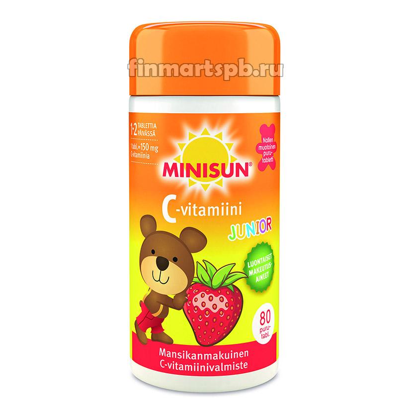 Витамин С Minisun C-vitamiini Super Nalle (для детей)