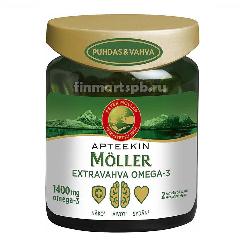 Рыбий жир Apteekin Moller Extravahva Omega-3 1400mg