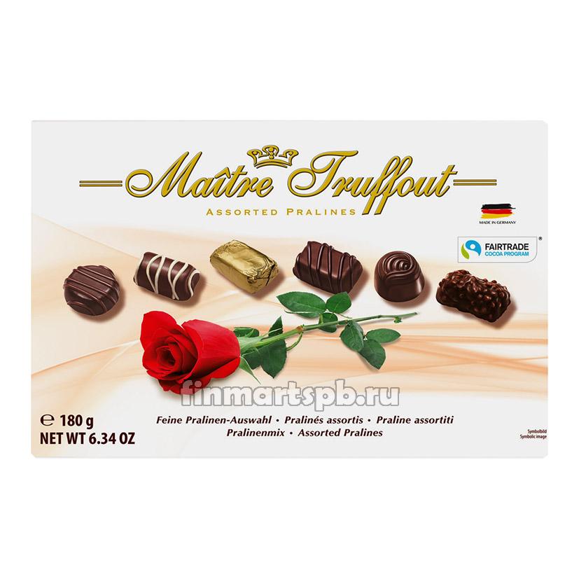 Шоколадные конфеты ассорти Maitre Truffout (Роза)
