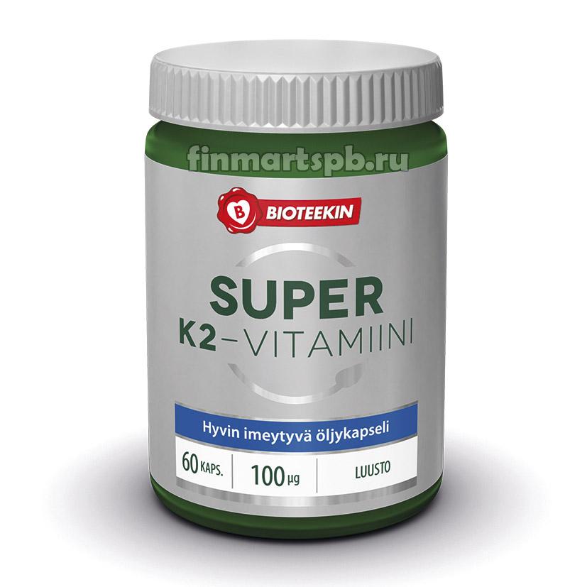 Витамины Bioteekin Super K2 vitamiini, 60 таб.