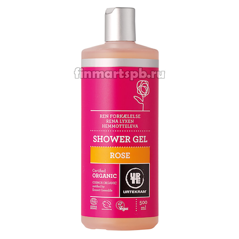 Гель для душа Urtekram Shower gel Rose