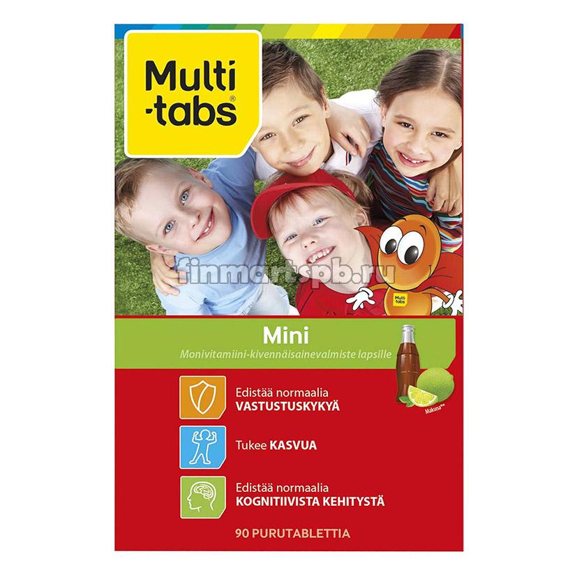 Жевательные поливитамины Multi-Tabs Mini (кола , лайм)