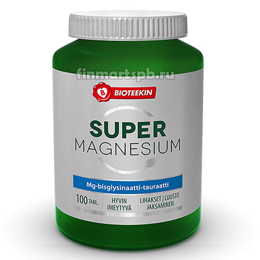 Витамины магний Bioteekin Super Magnesium , 100 таб.