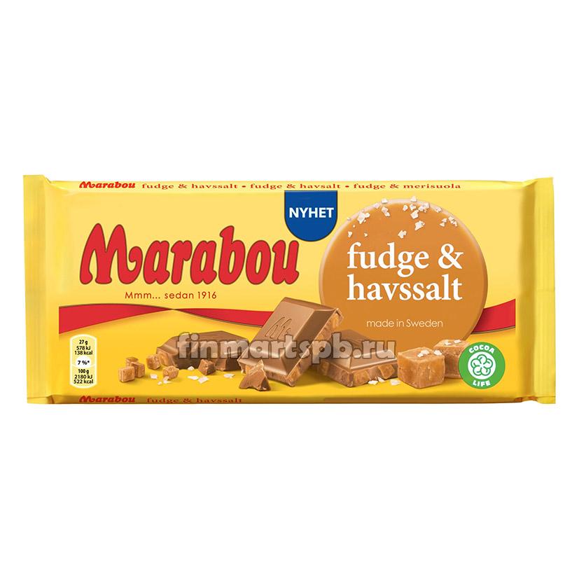 Молочный шоколад Marabou Fudge & Havssalt