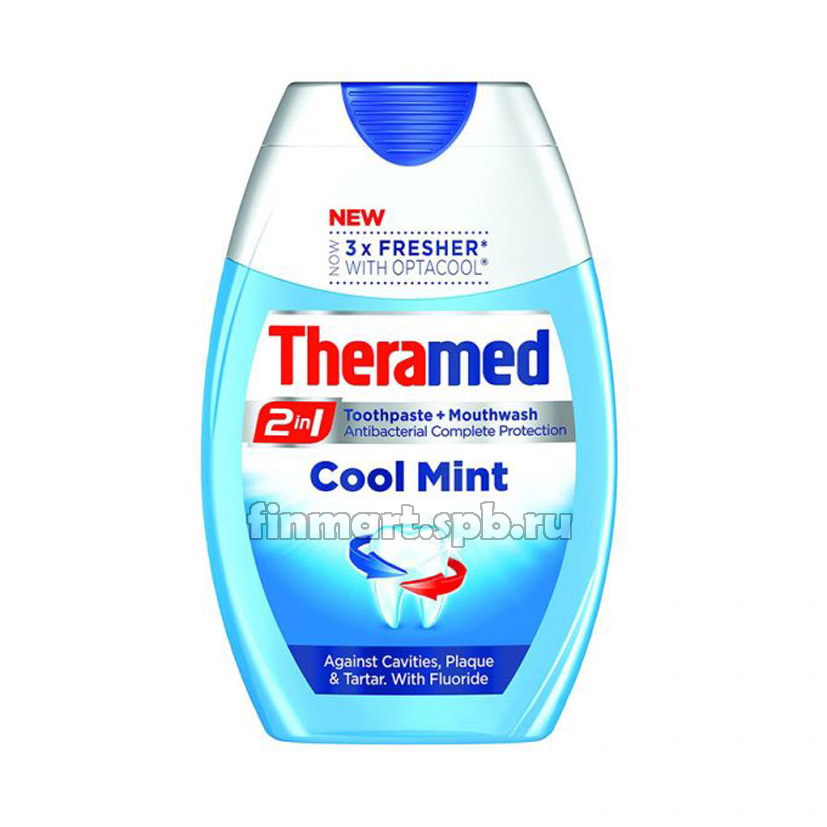 Зубная паста Theramed Cool mint 2in1 - 75 мл.