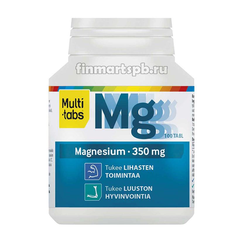 Витамины магний Multi-tabs Magnesium 350 mg , 100 таб.