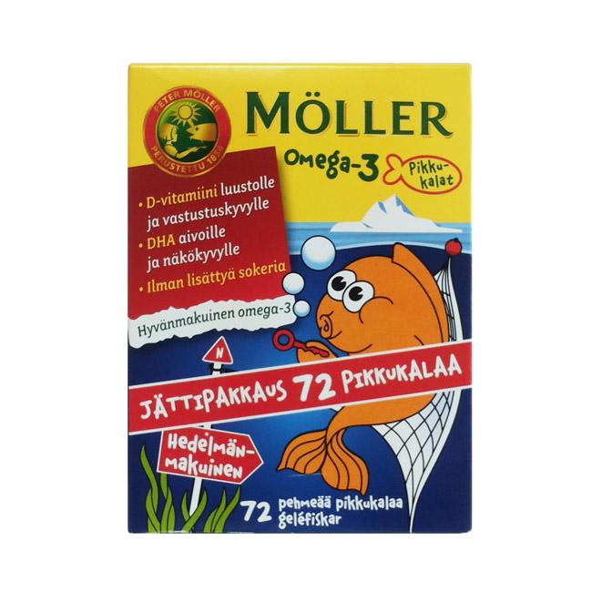 Витамины Moller Omega 3 pikkukalat Пиккукалат (Рыбки) - 72 капсулы.