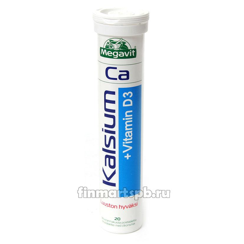 Шипучие витамины Megavit Kalsium+D-Vitamin (Кальций+Витамин Д)