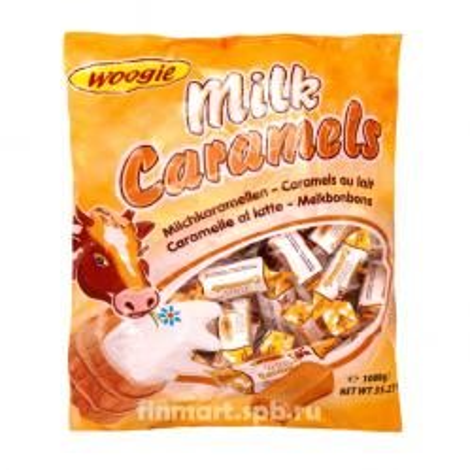 Конфеты карамельная коровка Woogie  Milk Caramels
