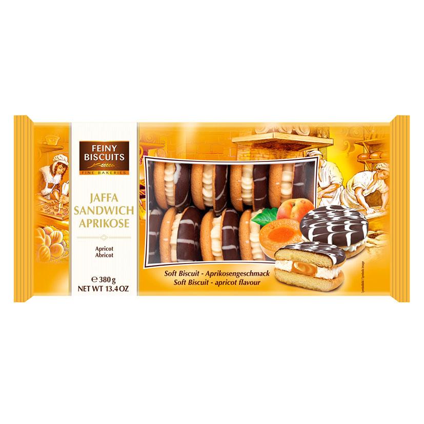Печенье бисквит Feiny Biscuits Jaffa (c клубничной начинкой)