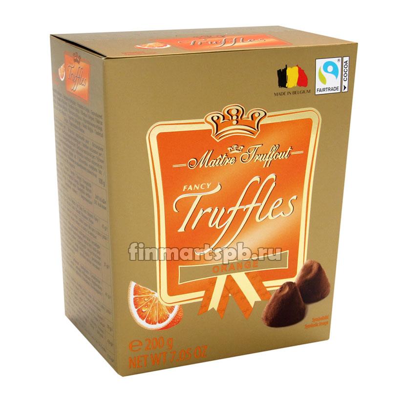 Шоколадные трюфели Maitre Truffout Orange (апельсин)