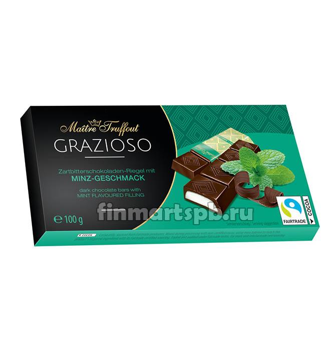 Шоколадные палочки с мятной начинкой Maitre Truffout  - 75 гр.
