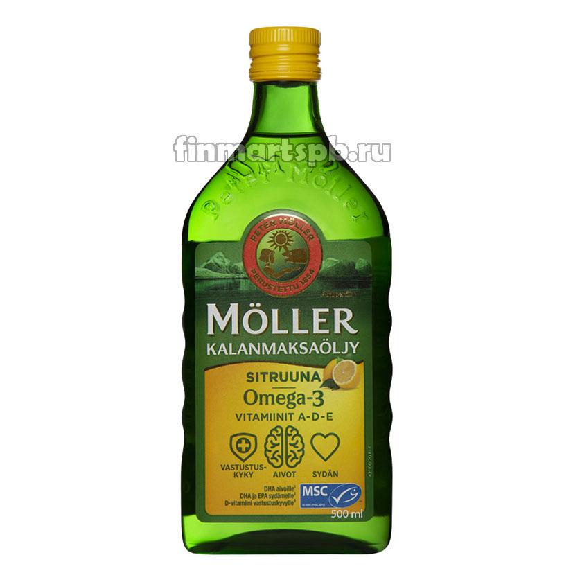 Moller Omega 3 (Рыбий жир вкус Лимона)