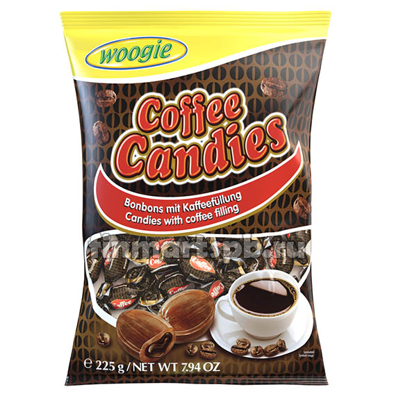 Конфеты леденцы вкус кофе Woogie Coffee Candies, 250 гр.